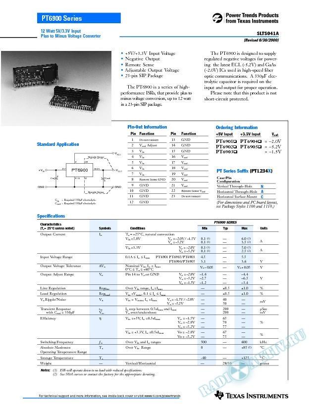 12 Watt Plus to Minus Voltage Converter (Rev. A)