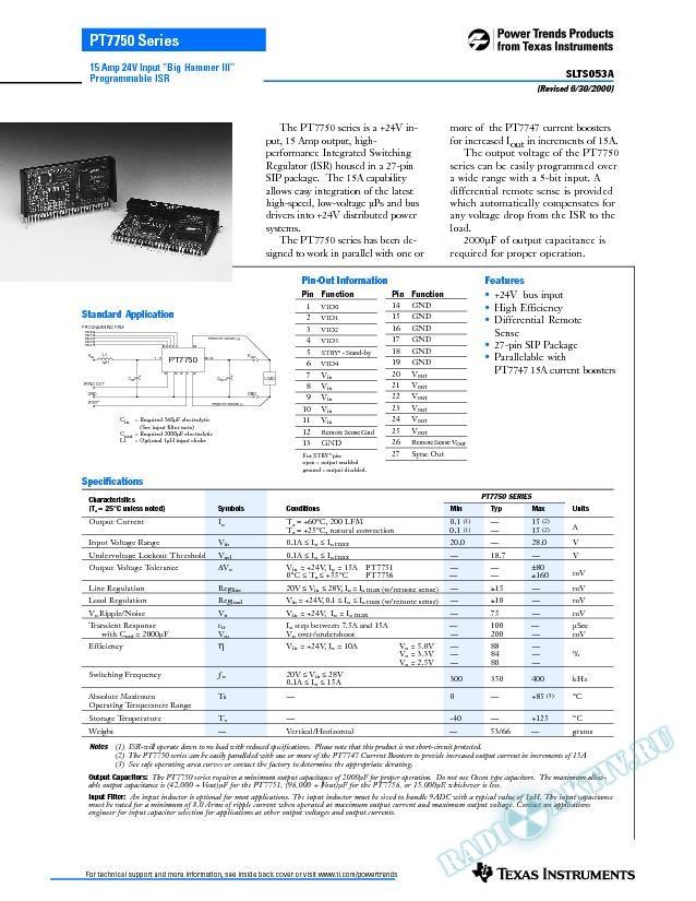 15 Amp 24V Input Big Hammer III Programmable ISR (Rev. A)