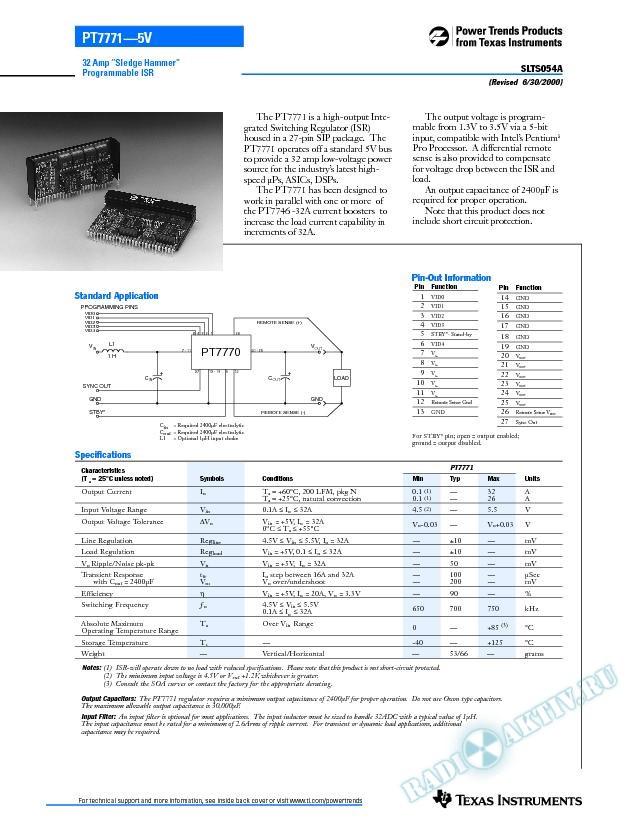32 Amp Sledge Hammer Programmable ISR (Rev. A)