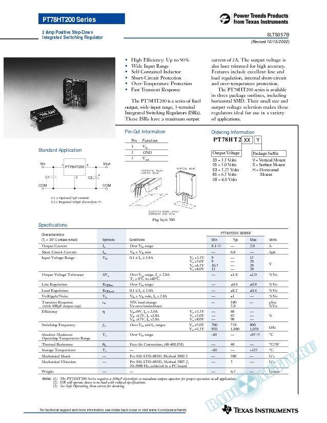 2 Amp Positive Step-Down Integrated Switching Regulator (Rev. B)