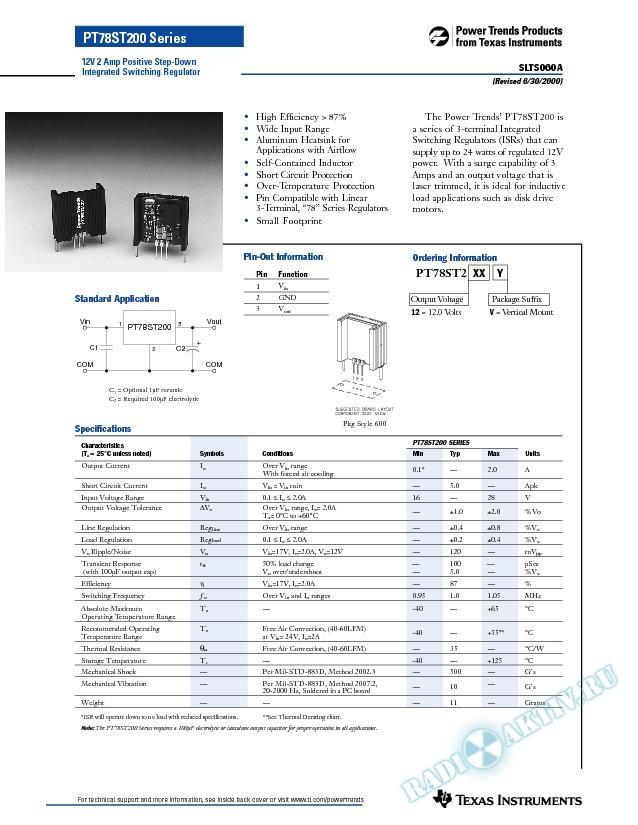 12V 2 Amp Positive Step-Down Integrated Switching Regulator (Rev. A)