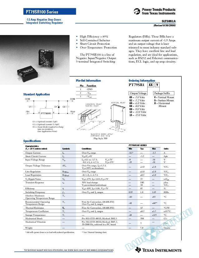 -1.5 Amp Negative Step-down Integrated Switching Regulator (Rev. A)