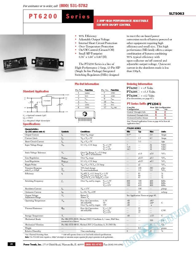 2 Amp High-Performance Adjustable ISR with On/Off Control