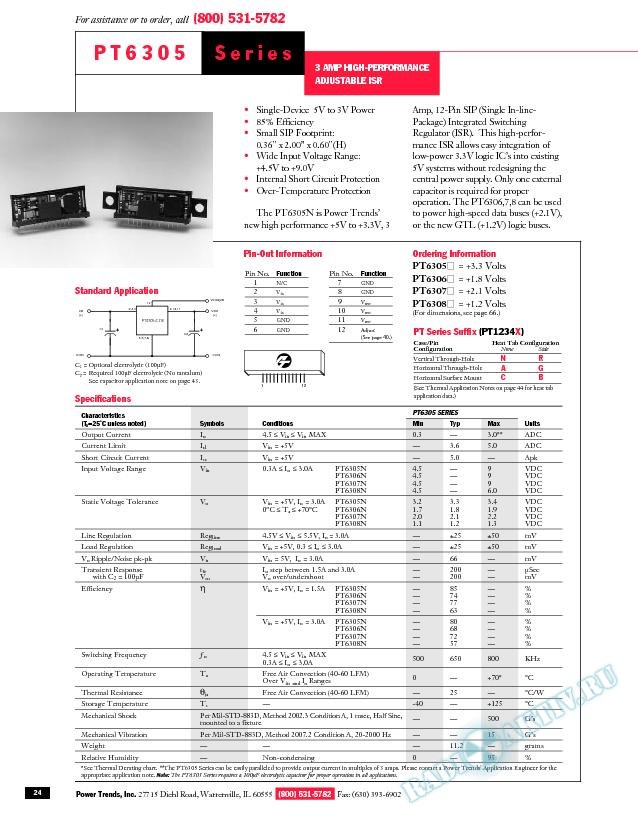 3 Amp High-Performance Adjustable ISR