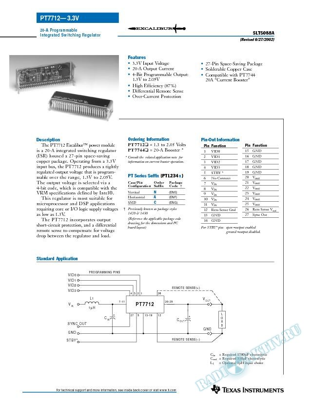 20-A Programmable Integrated Switching Regulator (Rev. A)