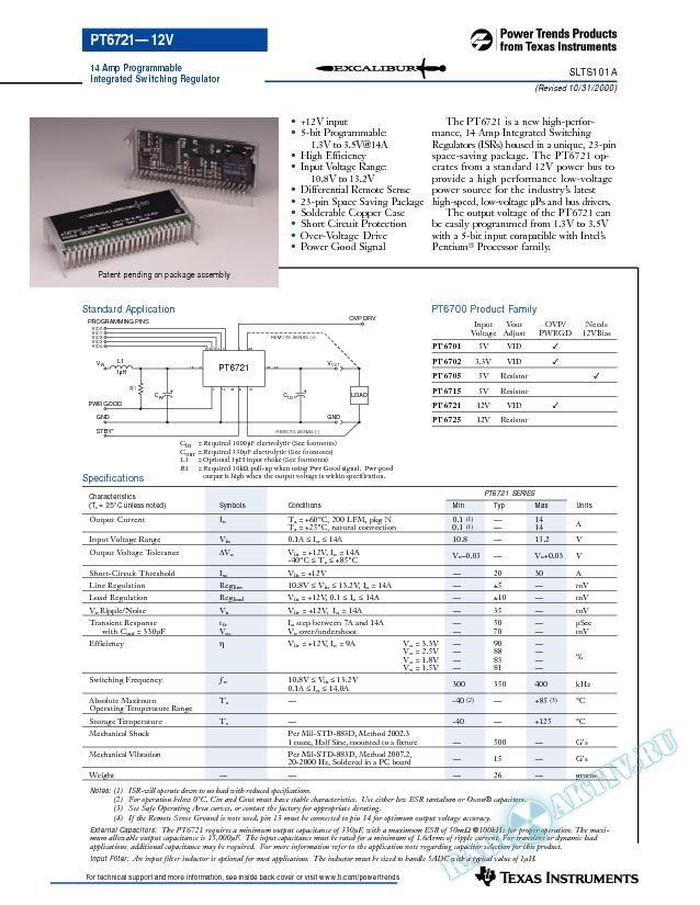 14 Amp Programmable Integrated Switching Regulator (Rev. A)