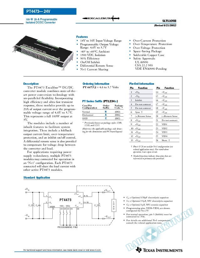 100-W 20-A Programmable Isolated DC/DC Converter (Rev. B)