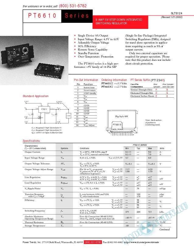 9 Amp 5V Step-Down Integrated Switching Regulator