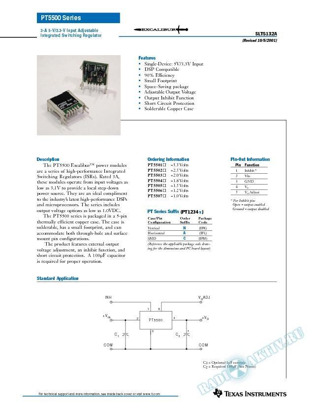 3 Amp 3.3V/5V Input Adjustable Integrated Switching Regulator (Rev. A)