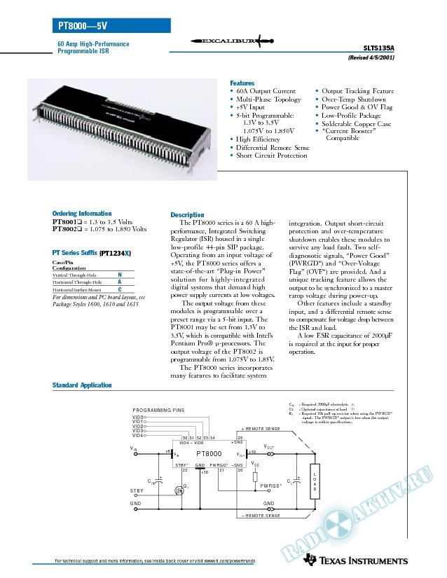 60 Amp High Performance Programmable ISR (Rev. A)