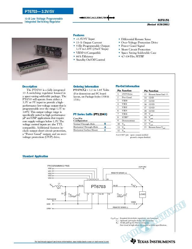 13A 3.3V-Input Low-Voltage Programmable ISR