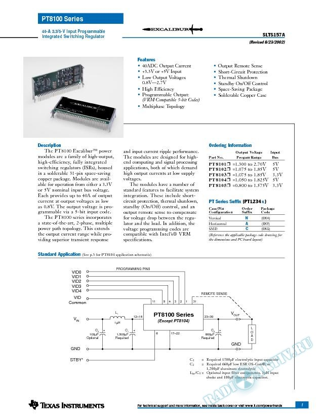 40-A 3.3/5-V Input Programmable Integrated Switching Regulator (Rev. A)