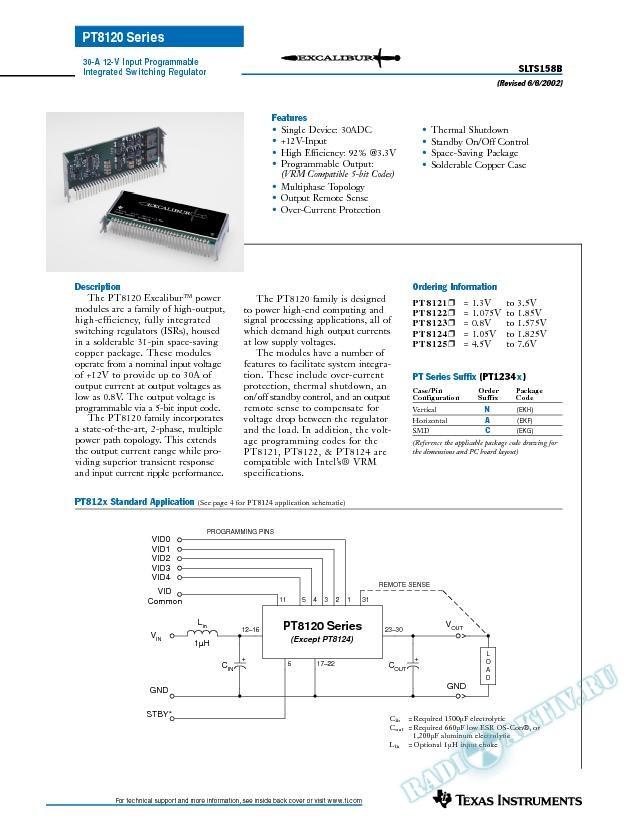 30A 12V-Input Programmable Integrated Switching Regulator (Rev. B)