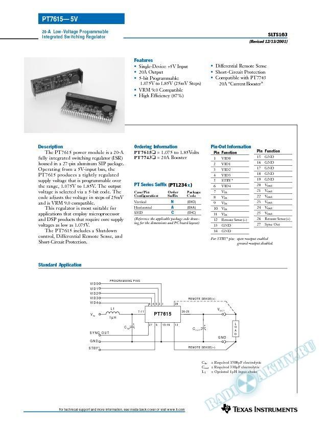 20-A 5V-Input Programmable ISR