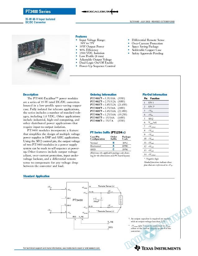 35-W 48-V Input Isolated DC/DC Converter (Rev. B)