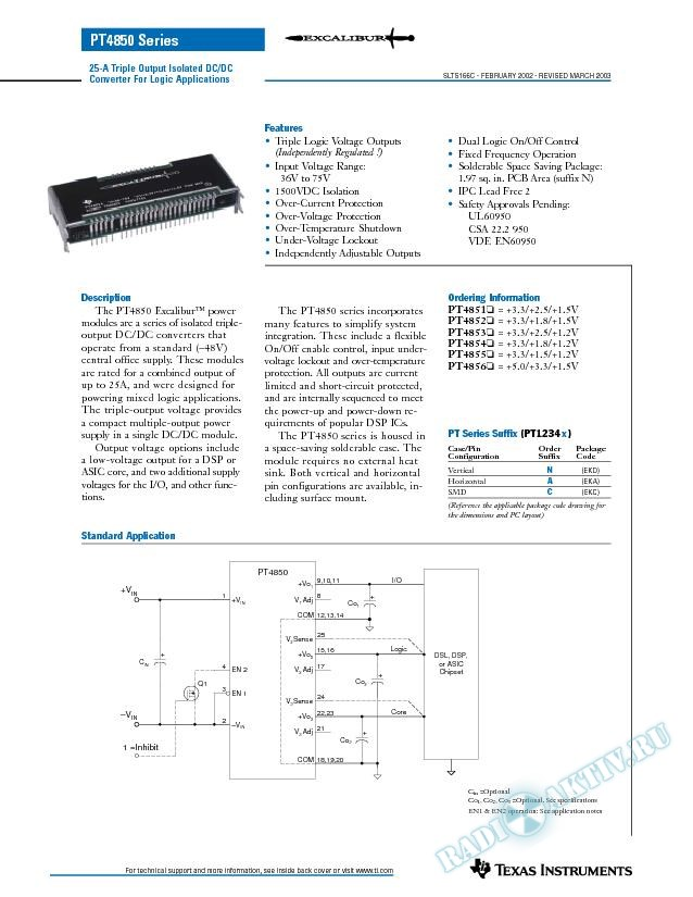 25-A Triple Output Isolated DC/DC Converter for Logic Applications (Rev. C)