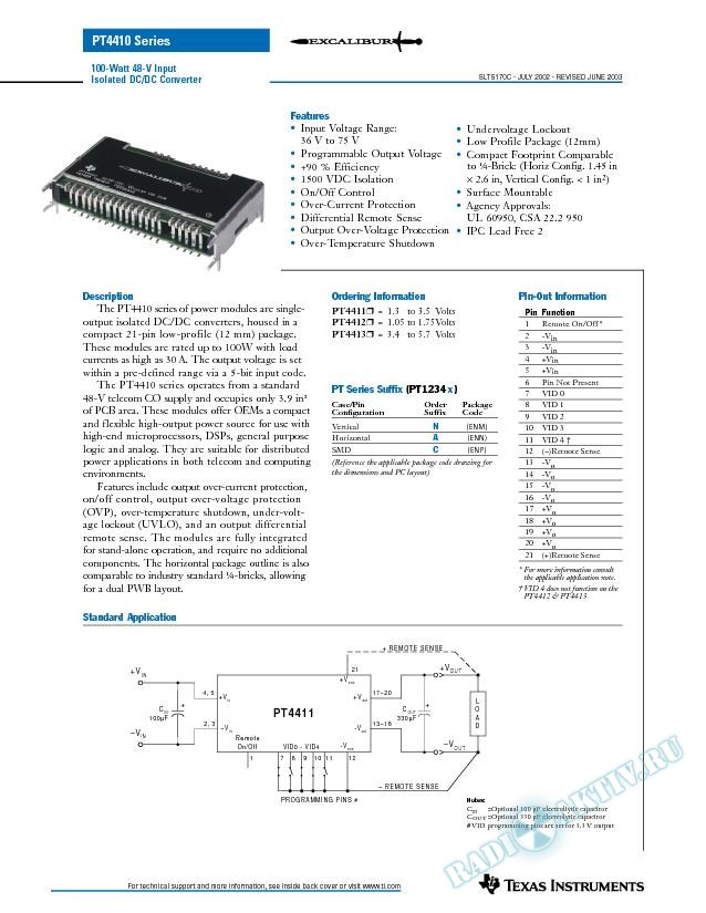 100-W 48-V Input Isolated DC/DC Converter (Rev. C)