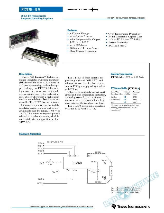 30-A 5-Bit Programmable Integrated Switching Regulator (Rev. A)