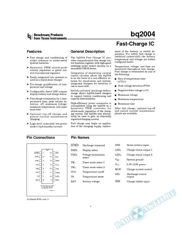 Fast-Charge IC (Rev. B)