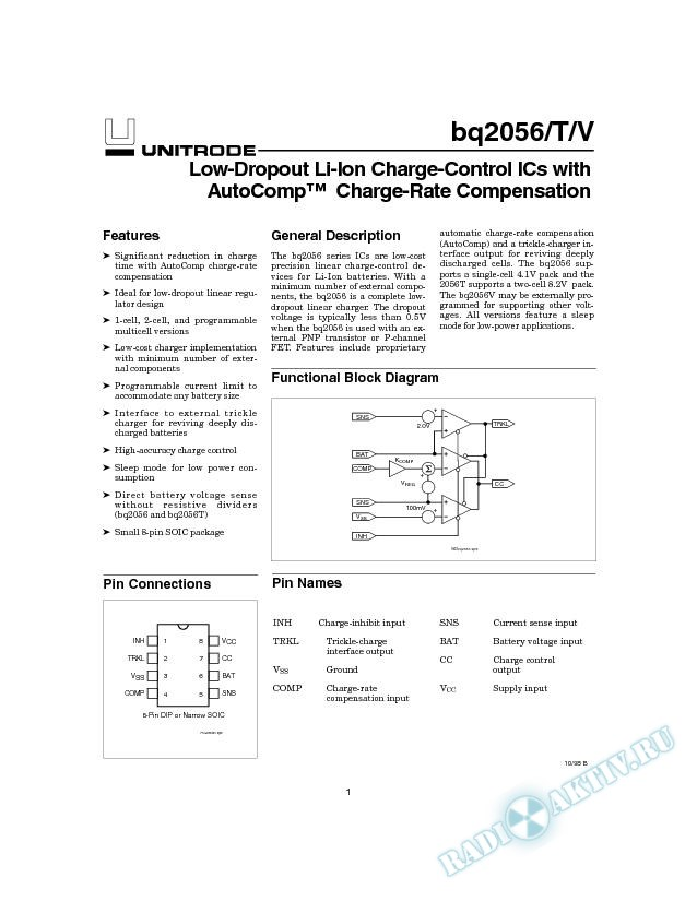 Low-Dropout Li-Ion Charge-Control IC With AutoComp Charge-Rate Compensation