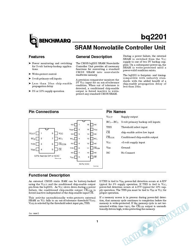 SRAM Nonvolatile Controller Unit