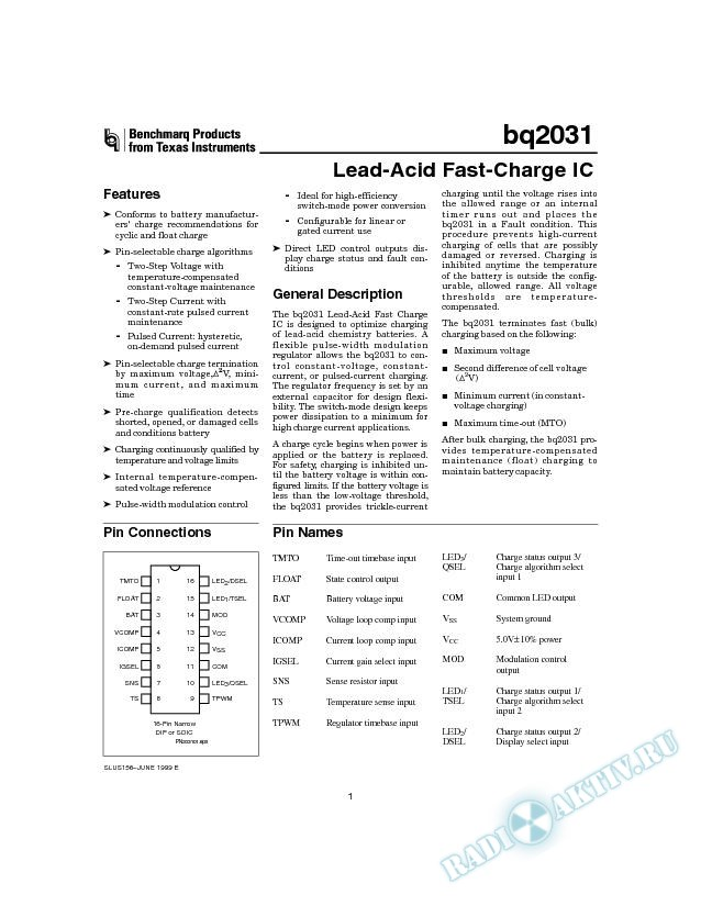 Lead-Acid Fast-Charge IC