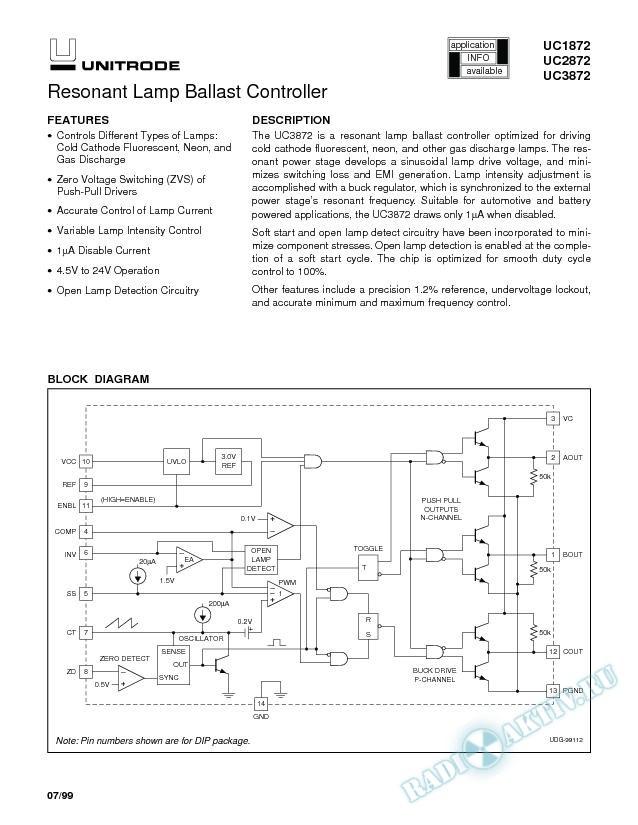 Resonant Lamp Ballast Controller