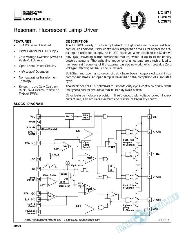 Resonant Fluorescent Lamp Driver (Rev. A)