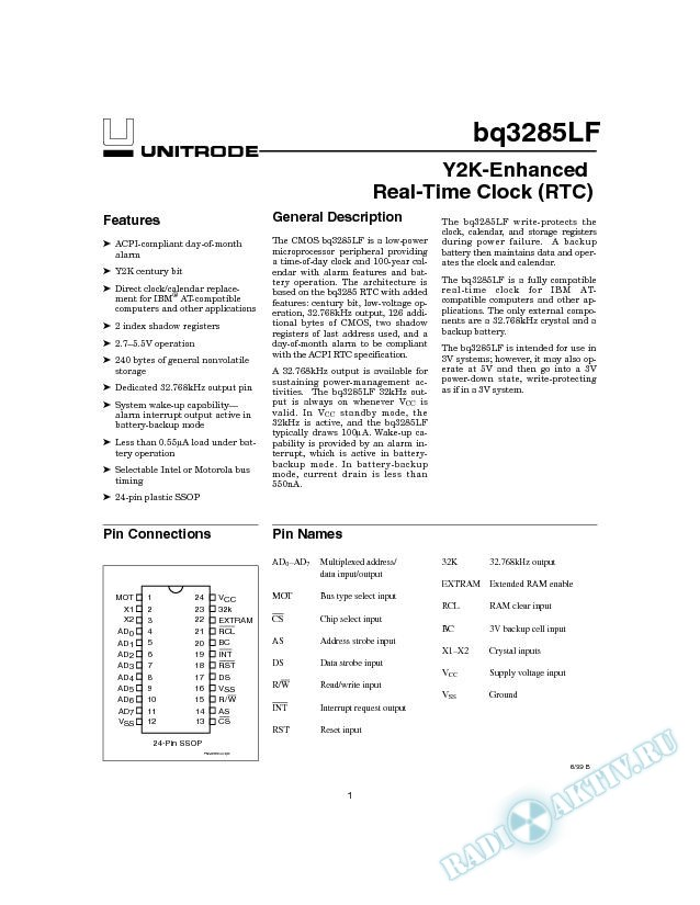 Y2K-Enhanced Real-TIme Clock (RTC)