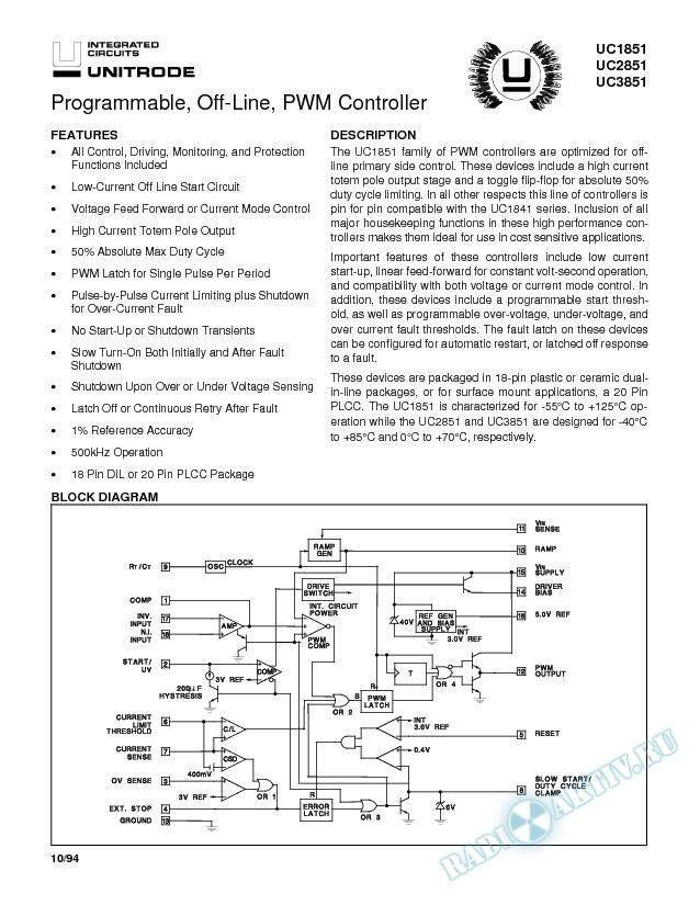 Programmable, Off-Line, PWM Controller