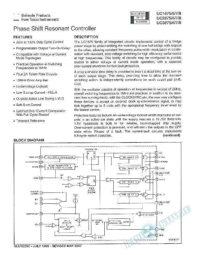 Phase Shift Resonant Controller (Rev. C)