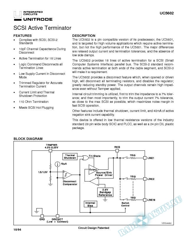 SCSI Active Terminator