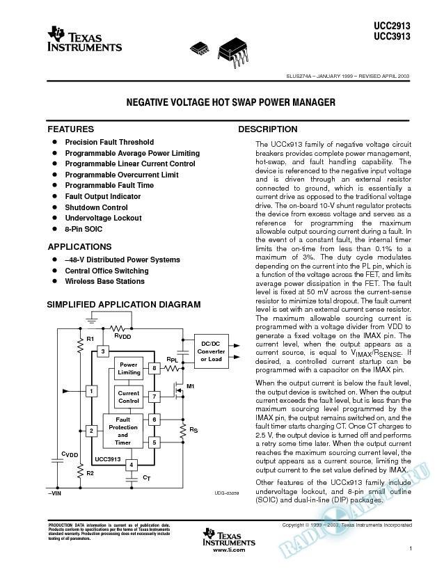 Negative Voltage Hot Swap Power Manager (Rev. A)