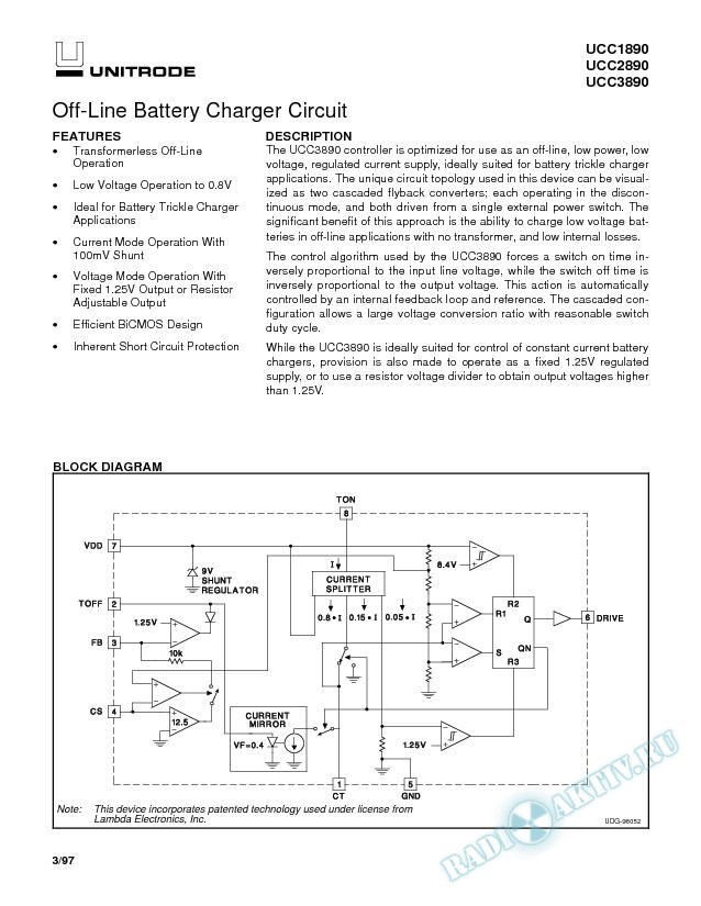 Off-Line Battery Charger Circuit