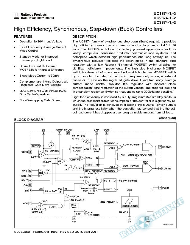 High Efficiency Synchronous, Step-Down (Buck) Controllers (Rev. A)
