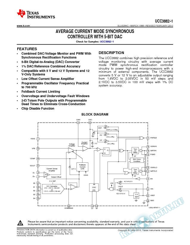Average Current Mode Synchronous Controller with 5-Bit DAC (Rev. C)