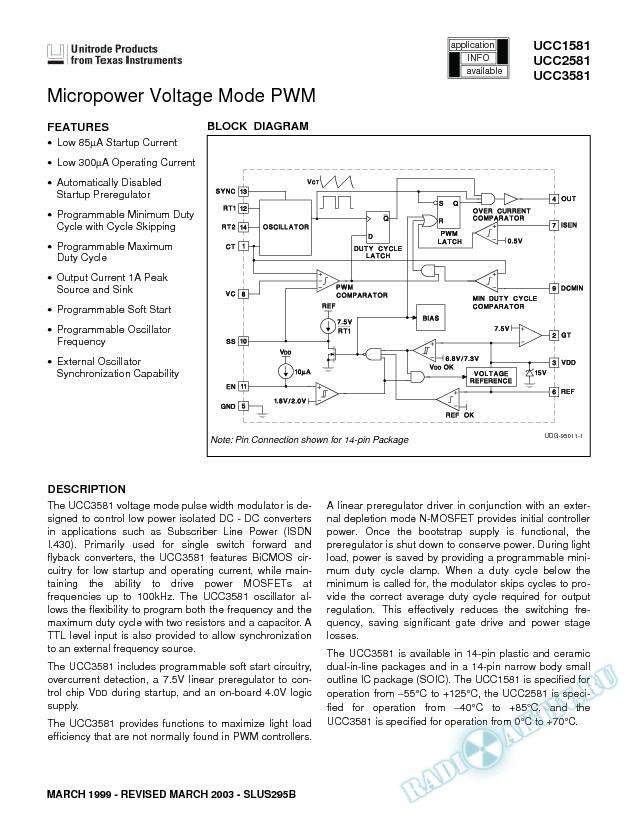 MicroPower Voltage Mode PWM (Rev. B)
