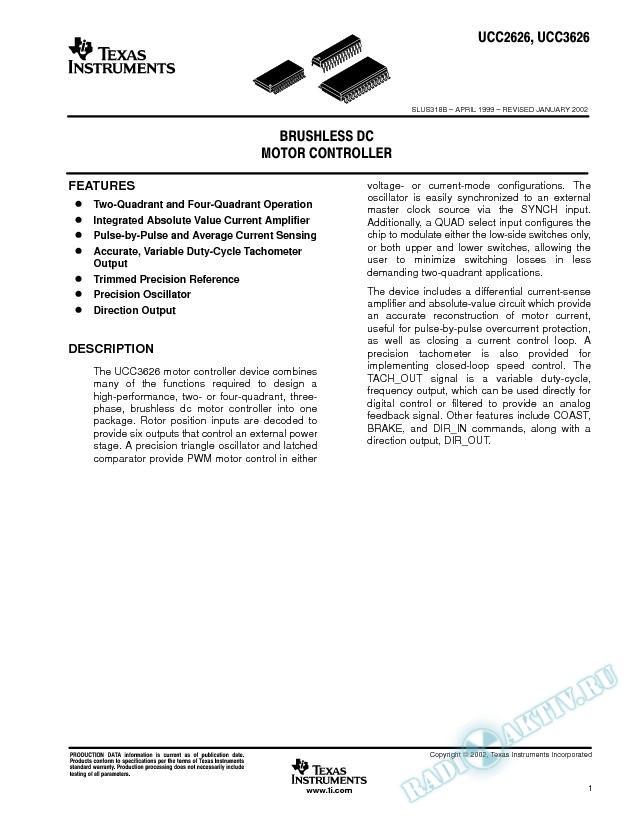 Brushless DC Motor Controller (Rev. B)