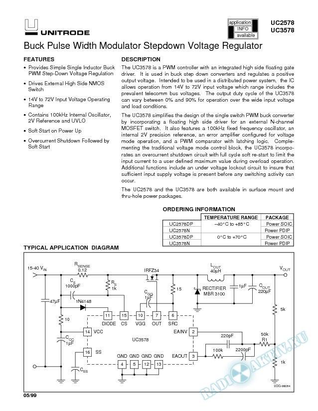 Buck Pulse Width Modulator Stepdown Voltage Regulator