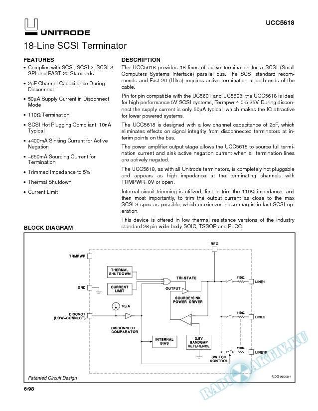 18-Line SCSI Terminator