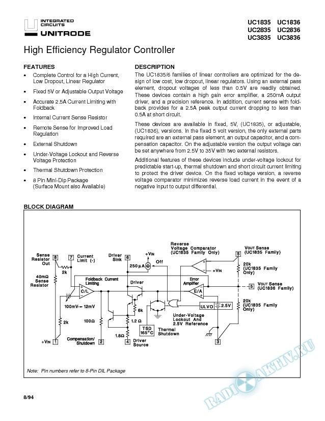 High Efficiency Regulator Controller