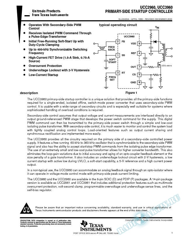 Primary-Side Startup Controller (Rev. A)