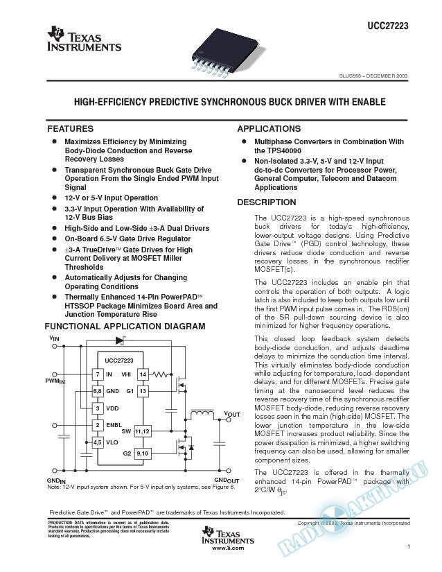 High-Efficiency predictive synchronous buck driver