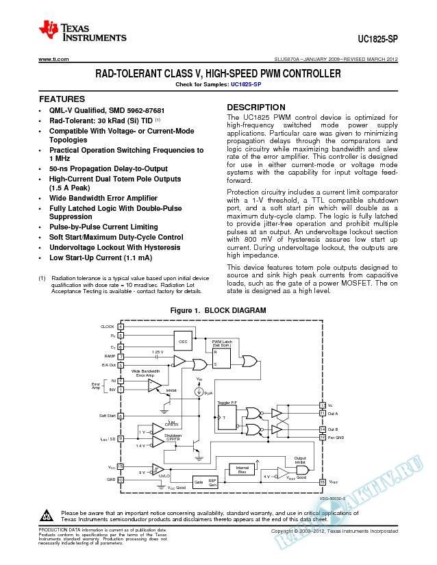 High-Speed PWM Controller. (Rev. A)