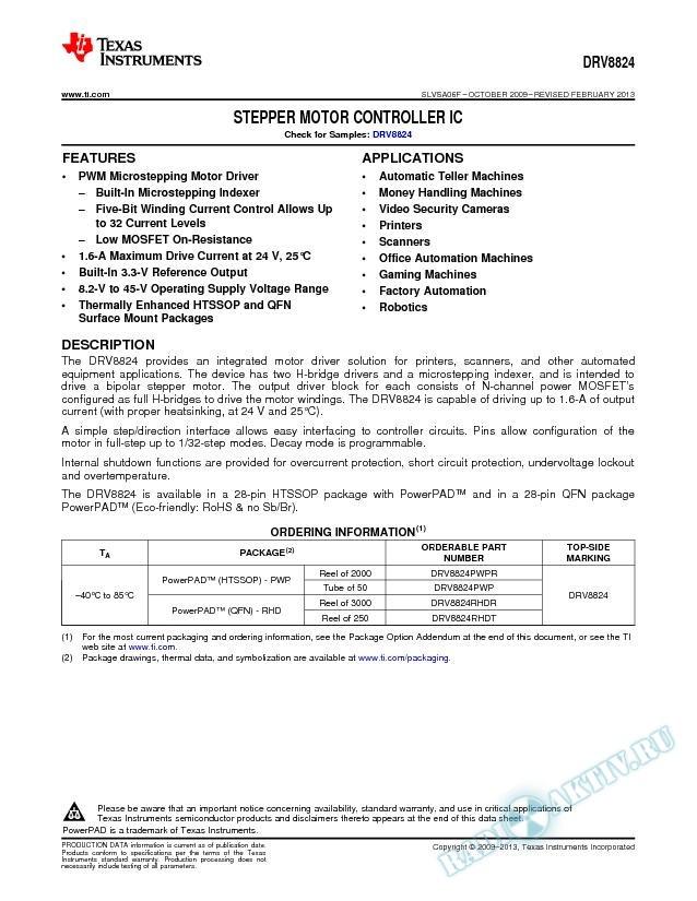 Stepper Motor Controller I.C. (Rev. F)