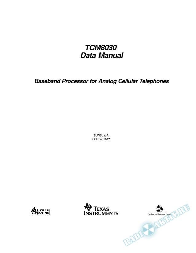 Baseband Processor For Analog Cellular Telephones (Rev. A)
