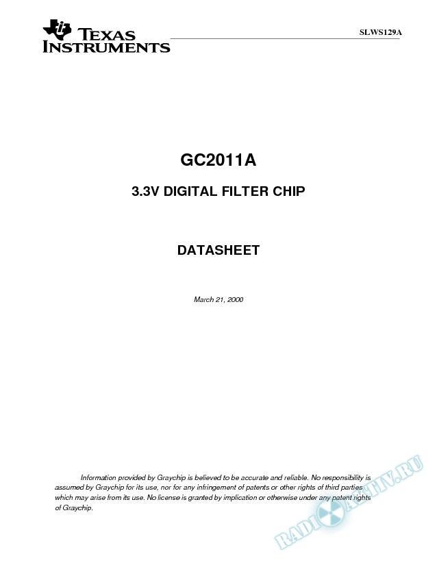3.3V Digital Filter Chip (Rev. A)