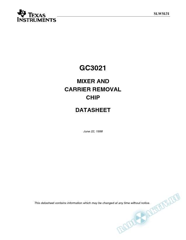 80 MSPS Mixer/Carrier Remover