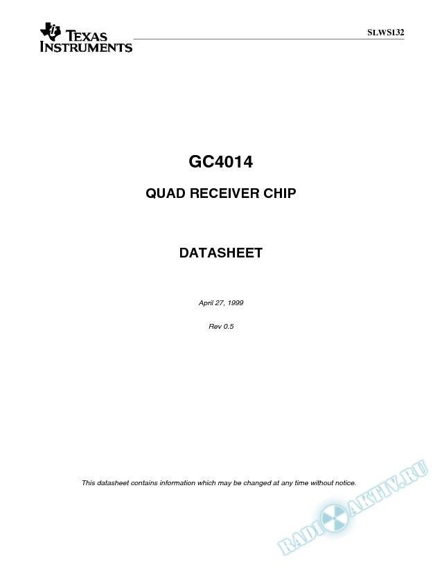 64 MSPS Quad Digital Receiver