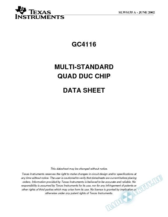 Multi-Standard Quad Digital Transmitter (Rev. A)
